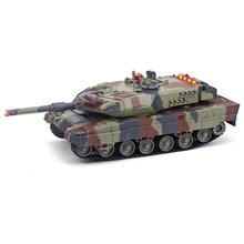 2.4G RC Battle Tank Toy 1:24 Scale Simulation Tanks Toy Army Battle Model Military War Game Toy Gift For Children HUANQI 516C(China)