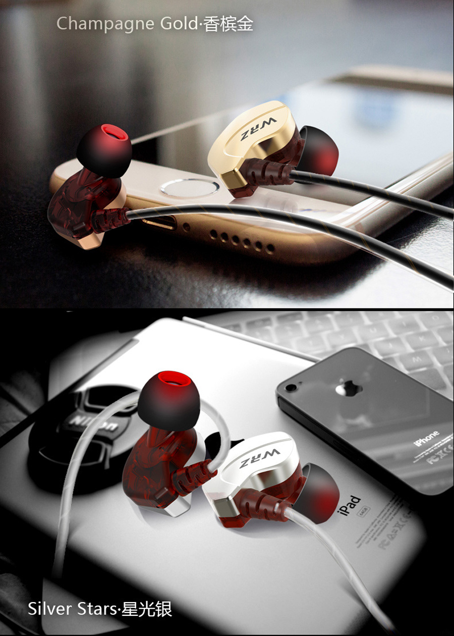 Newest 100% Original WRZ X6 Subwoofer In Ear Earphone Sports HIFI Bass DJ Earphones Headset with Mic for IPhone 7 7s xiaomi