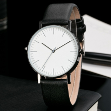 Classic Design Watches Men Fashion Casual Simple Brand Clock Leather Watch Band Quartz No LOGO Wrist watch relogio wholesale