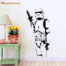 Star Wars Design Stormtrooper Children's Wall Stickers Vinilos Adhesivos Decorativos Pared Removable Home Decorations Mural S-03