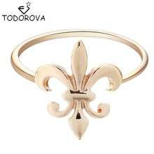 Todorova Punk Gold Silver Fleur De Lis Ring Meditation Midi Ring for Women Men Gift Engagement Ring Brand Jewelry My Orders