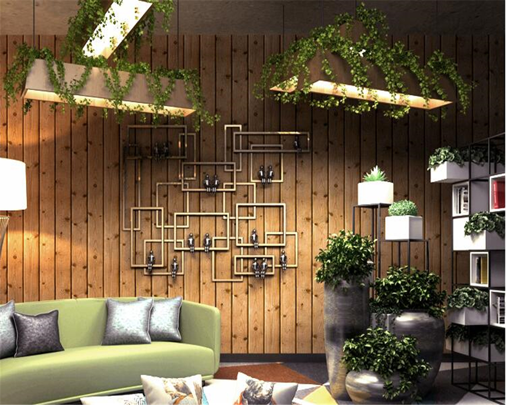 beibehang American simulation tree pattern coffee shop hotel tea shop clothing store office wall paper PVC works 3d wallpaper <br>