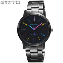 2017 Watches women fashion luxury brand GIMTO women watch reloj mujer ladies stainless steel quartz watch relogio masculino