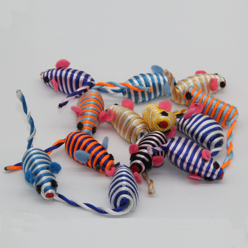 2017 New Colorful Spherical Plastic Rope Around The Cat Toy Mouse Cheap Sell Pet Toy(China (Mainland))