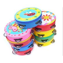 10CM Baby Child Kid Handbell Clap Drum Tambourine Rattles Toy Musical Instrument Exercise Arm Party Decoration(China)