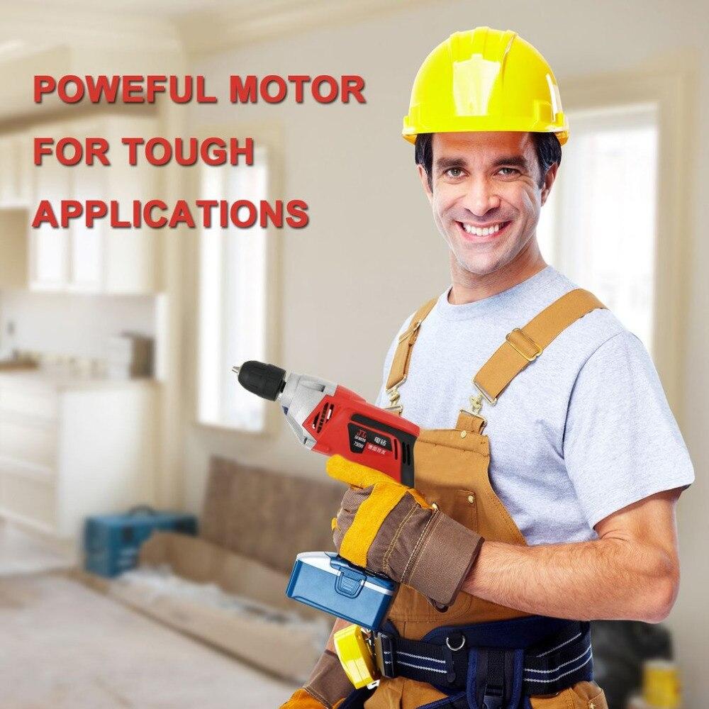 Handheld 10MM 220V 50Hz 750W Aluminum Durable Drill High Power Torque Electric Hammer Drill 2000RPM Adjustable Speed<br>