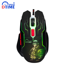 DTIME Brand Wired Game Mouse Optical USB Gaming Mouse Gamer Mice For Computer PC Laptop deathadder Bloody CS Go X7 3200DPI LOL(China)