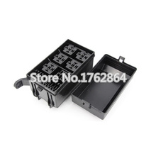 6 Way Auto fuse box assembly With terminals and fuse ,Auto car insurance tablets fuse box mounting fuse bo,Auto Relays Box(China)