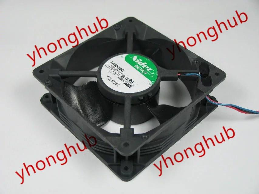 Free shipping For Nidec TA450DC, B34578-26, ALC, 930379 DC 48V 0.20A, 120x120x38mm 3-wire 3-pin connector Server Square fan<br>