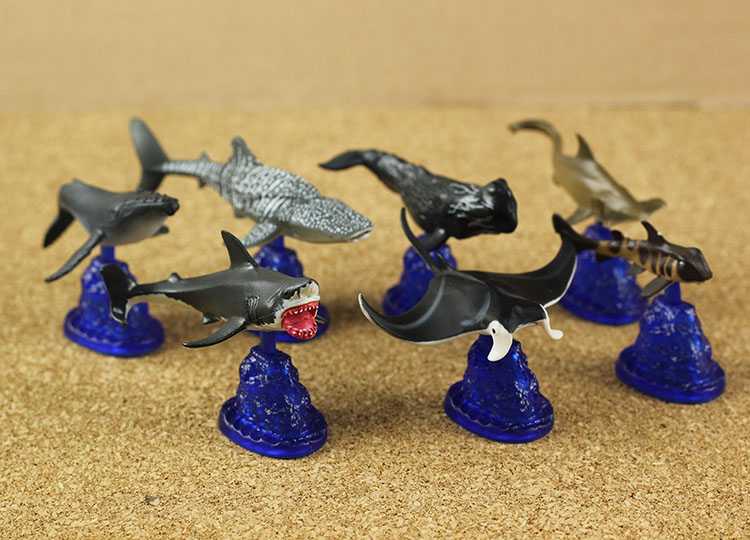 mini pvc figure The simulation model toy decoration  marine life whale shark ornaments 5pcs/set<br>