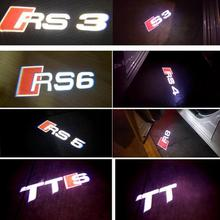 2PCS LED Car Door Light Logo Projector For  A1 A3 A4 B6 B8 A6 C5 80 A7 Q3 Q5 Q7 TT RS4 RS5 RS6 S4 S5 S6 S7 RS8 Car Door Warning