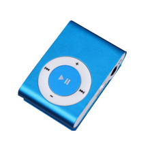 Metal Clip MP3 music player Portable Sport 3.5mm Mini Mp3 Support Micro SD card 5 Colors Without Screen