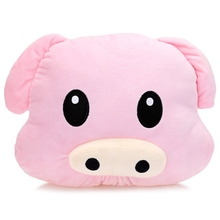 2016 HOT SALES Lovely Doll Animal Stuffed Emoticon Plush Pillow Toy Cute Dolls Cute Pig Animals Design Plush Toys Best Gifts(China)