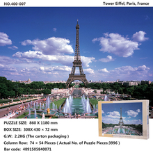 Free Shipping 4000pcs jigsaw puzzles for Adults toys Neuschwanstein Tower Eiffel, Paris,Dolomiti, Italy The Great Wall of China(China)