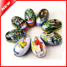 Wholesale Easter Day Egg Tin Box For Candy Jewelery Coin Storage Peter Rabbit  Gifts Packing Iron Tin Boxes Sundries Container