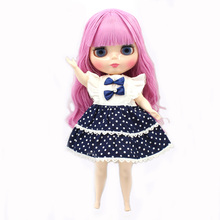 blyth doll for plump body factory fat pink lady with bandgs bjd toys BL2428 neo suitable for cosmetic diy refit Special offer