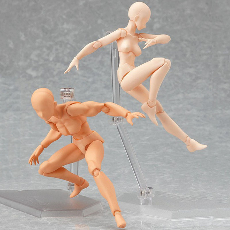 2 Style Body Chan Body Kun Pale Gray Color 13cm Figma Bandai SHF Ferrite PVC Action Figure Figma Sketch Model  Figure Toys<br><br>Aliexpress