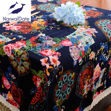 National Wind Tablecloths TableCloth Linen Table Cover Rectangle for Wedding/Party/Banquet Wedding Table Cloth Decoration(China)