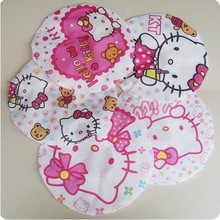 10pcs/lot hello kitty shower cap pvc bathroom hat oilproof kitchen hat(China)