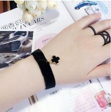 2018 Creative Lace Bracelet Simple Flowers cute Clover Bracelets & Bangles For Woman man Charms Jewelry accessroies(China)