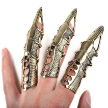 8Pcs/Lot s Gothic Punk Hinged Knuckle Full Finger Armor Rings Claw Bulk New(China)