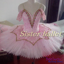 Adult Professional Ballet Tutus Pink Ballerina Sleeping Beauty Snowflake Classical Ballet Stage Costume Ballet Dress Women