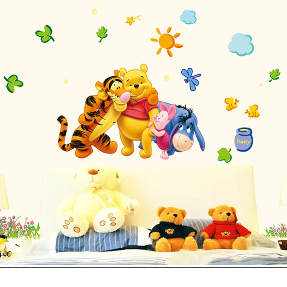 HTB1yIcobdnJ8KJjSszdq6yxuFXaJ - New Arrival  The Pooh Cartoon Wall Stickers For Kids Rooms
