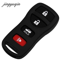 jingyuqin Smart Remote Control Shell Fit Nissan Armada Frontier Tita Car Key Fob Case Replacement 4 Buttons