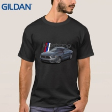 Basic Hip-Tope Tee Shirt O Neck Shirts Summer Sale Ford Mustang Grill Legend Honeycomb Grill And Emblem Black Ali Shirt(China)