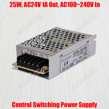 1A 25W AC 24V Output AC 110V 220V In Centralized Power Supply Central Switching Power Source for CCTV Camera Security System(China)
