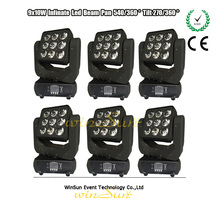 3 x 3 Matrix with Pixel Controllable 4 -coloured in 1 108 W (RGBW) COB LEDs Mini Moving Head Sharpy Beam WSEM-912