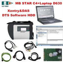 Multi language OBD2 scanner MB STAR C4+Laptop D630+Latest 2017 09 software HDD For Mercedes Benz full set car Diagnostic tool(China)
