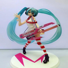 Hatsune Miku Greatest Idol Ver. Electric Guitar Miku PVC Action Figure Collectible Model children birthday gifts toy T5979