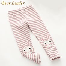 Bear Leader Girls Pants 2017 New Autumn&Winter Brand Girls Leggings Toddler Strip Cute Rabbit Design Skinny Kids Leggings 3-7Y