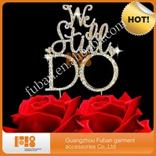 (10 pieces/lot)We Still Do Rhinestone cake toppers anniversary decorations
