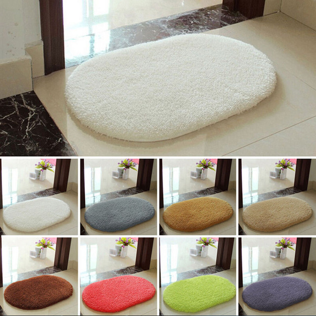 WARM TOUR Extra Large Nonslip Carpet Floor Mats Bathroom Door Floor Carpet Doormat Bedroom Living Room Foyer Kitchen Slip Carpet