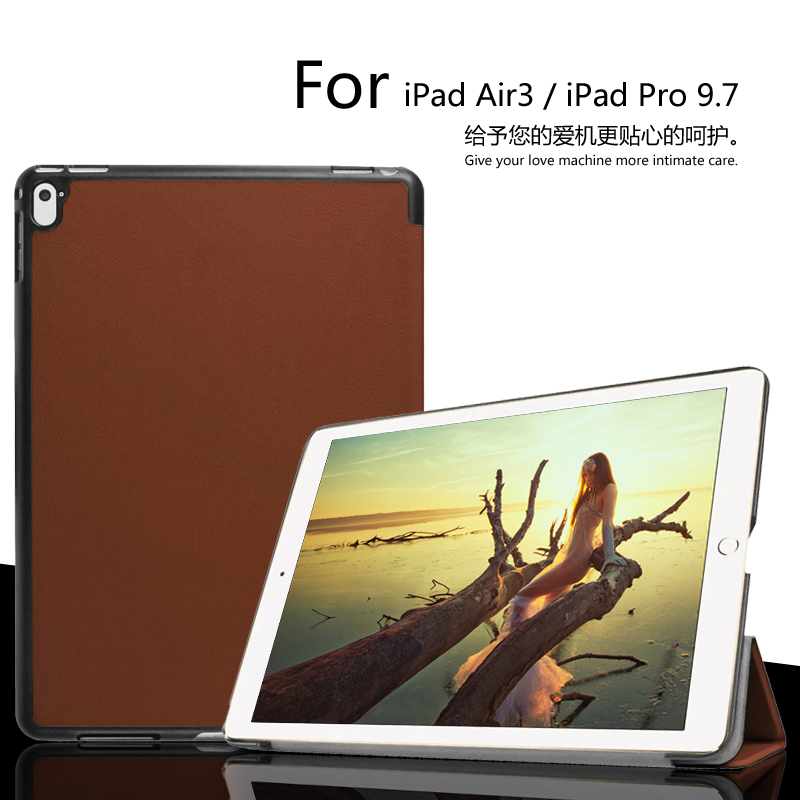 For iPad7 / iPad Air3 / iPad Pro case 9.7 inch  Custer Voltage Slim PU Leather Folding Stand Holster Cover case Free Shipping<br><br>Aliexpress