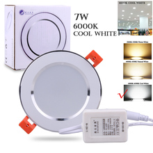 Recessed 7W LED 6000K Cool White Downlight Ceiling Lamp Home Hotel Office Indoor Wall  Mounted Leds Light