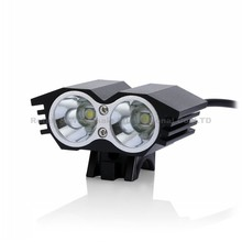 5000 Lumens 2x CREE XM-L U2 LED Cycling Bike Bicycle Light Head front Light With 4x18650 battery pack And charger