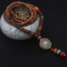 fashion evade ethnic elephant necklace, stones vintage fate plate Nepal jewelry,handmade sanwood bodhi beads vintage necklace