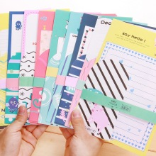 Freeshipping Color Animals Pattern Printing Envelope Letter paper Set