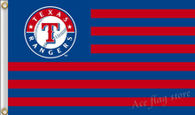 MLB Texas Rangers US Stripe Flag 3x5 FT 150X90CM Banner 100D Polyester flag