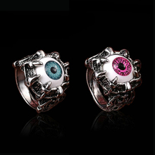 Sale 1pc New Fashion Men Silvery Cool Finger Rings Stainless Steel Gothic Jewelry Personality Novelty Gift(China)