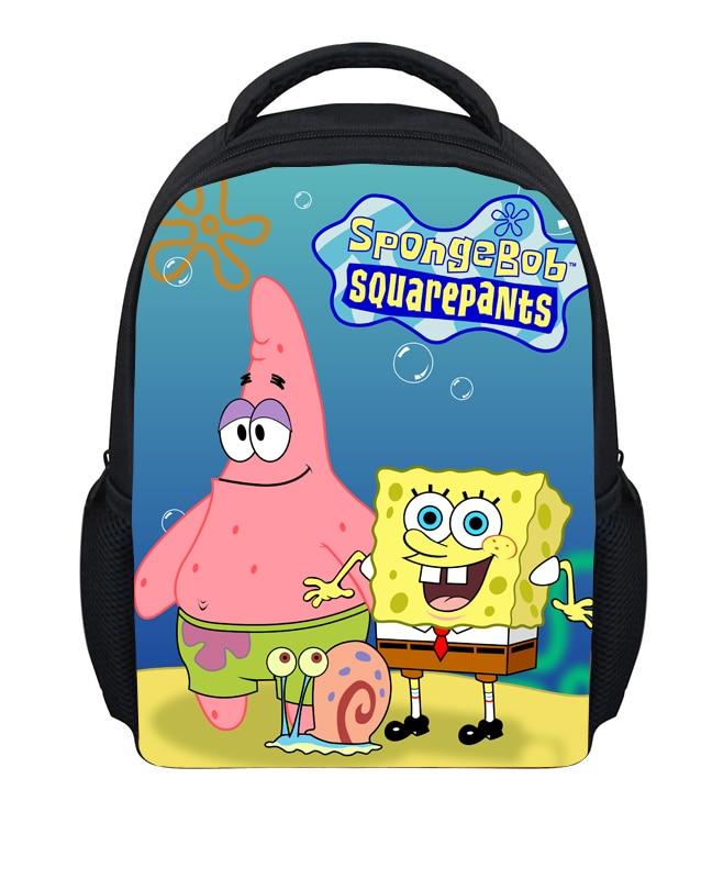 12 inch kids school bags for boys girls gifts cartoon school bags SpongeBob Square Pants mochilas infantis kids small backpack<br><br>Aliexpress