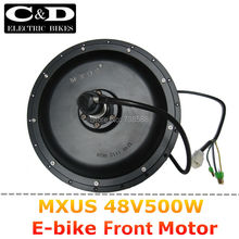 48V 500W High Speed Brushless Hub Motor E-bike Motor Front Wheel Drive MXUS Brand