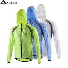 2017 ARSUXEO Winter Outdoor Sports Waterproof Windproof Pack Rain Cycling Bike Bicycle Running Jacket Coat Jersey Windproof 012