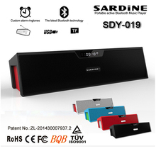 Sardine SDY-019 Bluetooth Speaker Wireless HIFI Portable Subwoofer Speakers Surround Sound Music Box with Clock FM radio TF Card