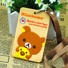 Anime/manga character Rilakkuma bear Silicone card holder/case/cover free shipping overseas! High quality!