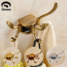 Modern Style Solid Brass Rotation Bathroom Clothes Hook Bathroom Accessories Bath Hardware wall Mounted
