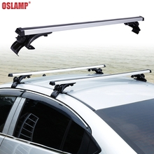Oslamp 120cm 68KG Universal Car Roof Rack Aluminum Adjustable Roof Rack Cross Bar for Jeep Ford Honda SUV Kayak Snowboard